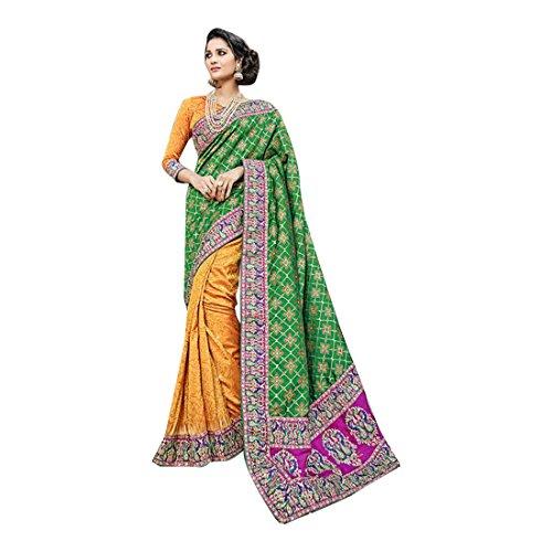 da richlook donna 2603 abito sari indiano sposa Saree indiano Matrimonio etnico latest tradizionale partywear jari Seta wnvqx0Bf