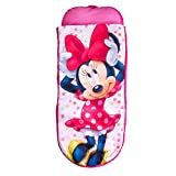 Readybed Disney Minnie Mouse Junior Kids Airbed Sleeping Bag in One, Polyester, Pink, 75 x 75 x 90 cm