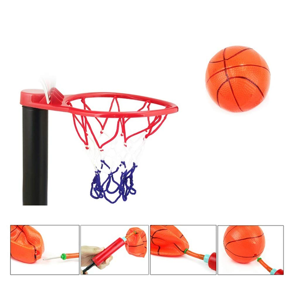 Aland-Adjustable Kids Mini Basketball Hoop Stand Toys Outdoor Indoor Sports Games by Aland (Image #3)