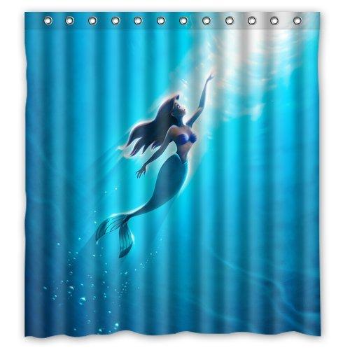 The Little Mermaid Custom Shower Curtain Home Decor Bathroom Waterproof  Fabric Fashion Bath Curtain 66x72 Inch