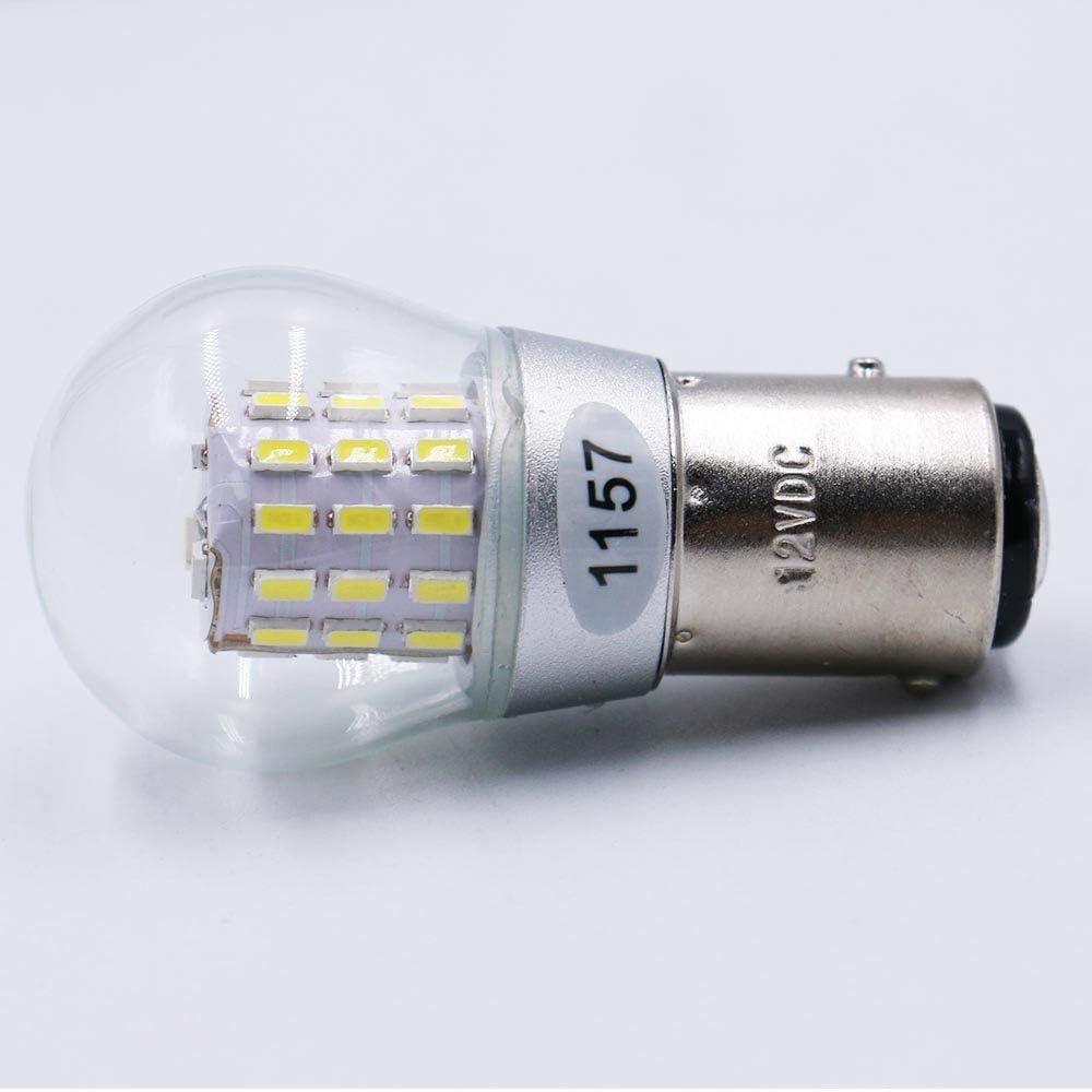 F/ür R/ücklicht Standlichtlampen 2 St/ück Wei/ß Super Hell 1157 1034 7528 2057 2357 Gl/ühbirne Anpassbar an 12-15V DC