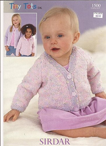 Sirdar Tiny Tots DK Knitting Pattern 1500 Cardigans NB-6yrs Sirdar Yarn Patterns