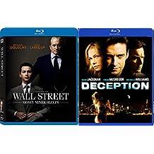 Deception & Wall Street: Money Never Sleeps [Blu Ray] 2 Pack Crime Mystery Thriller Movie Set