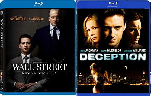Deception & Wall Street: Money Never Sleeps [Blu Ray] 2 Pack Crime Mystery Thriller Movie Set
