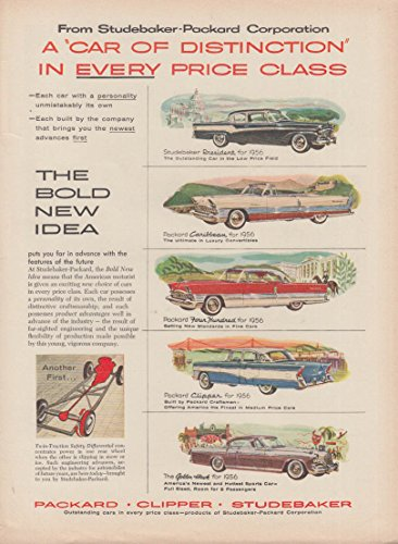 Studebaker Packard Car of Distinction ad 1956 Caribbean for sale  Delivered anywhere in USA