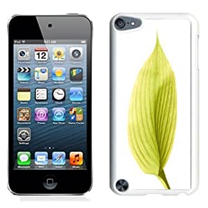 Lovely and Durable Cell Phone Case Design with iOS 8 Yellow Leaf iPod Touch 5 Wallpaper in White