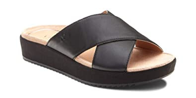 ec6a8cf6c120 Vionic Women s Tropic Hayden Platform Sandal - Ladies Slide with Concealed  Orthotic Arch Support Black 10