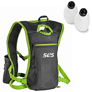 Hydration Vest - Backpack - 2 Bottles - Great For Trail-Running, Running, Marathon, Hiking 19oz (Lime)