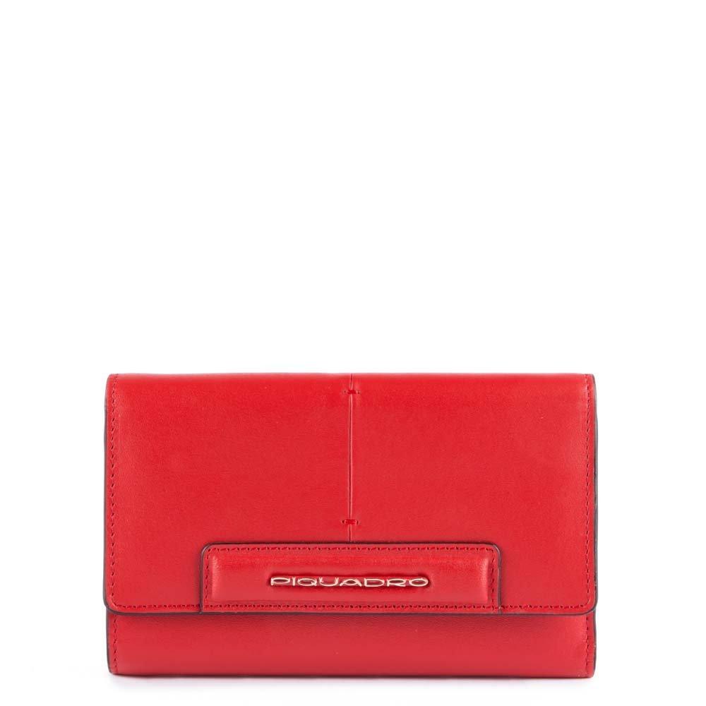 Piquadro Splash ID Case, 16 cm, Red (Rosso/Sabbia) by Piquadro