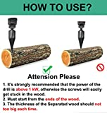 Deartisan Firewood Splitter Screw, Speed Wood Drill bit Upgraded Cone Kindling Firewood Log Splitter for Hand Drill Stick Copper