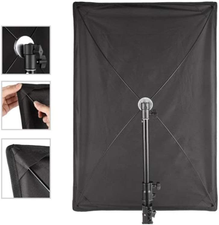 Yuehjnba Photographic Reflector 70x100CM Frame Diffuser and Reflector Scrim Kit Lighting Soft Cloth Sun Scrim Flat Panel Metal Frame with Adjustment Handle 4 Fabrics Suitable for Photographers