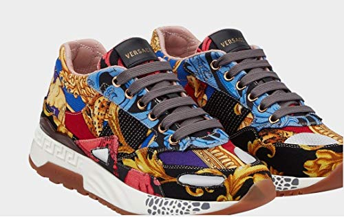 Versace Women's Barocco Print Achilles Fashion Sneakers Trainers Shoes US 7
