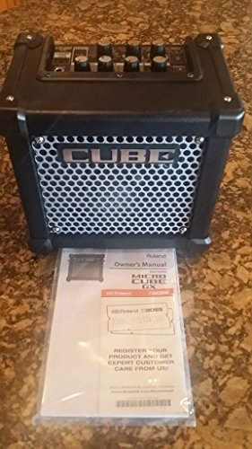 Roland Micro Cube Battery Powered Guitar Amplifier | M-CUBE-GX with 8 DSP Effects, 8 COSM Amplifier Models, Chromatic Tuner, iOS i-Cube Link (Black) - Watt Powered Amplifier