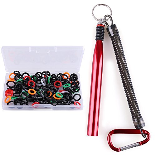 LotFancy Wacky Worm Rig Tool and 150PCS O-Ring Kits for 3