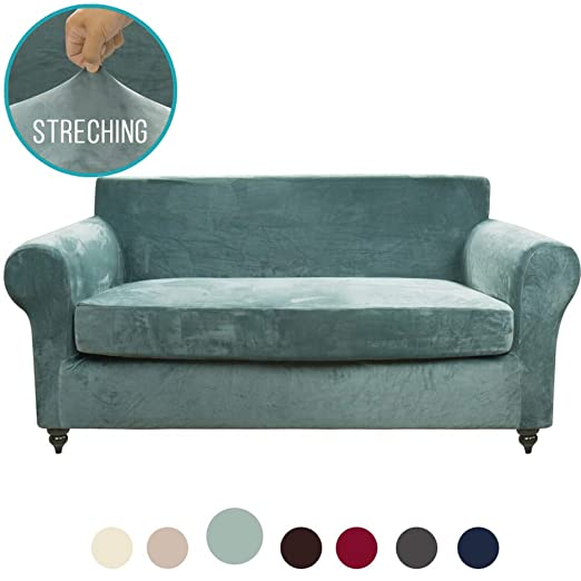 Amazon.com: MOYMO - Funda de sofá de terciopelo elástico de ...