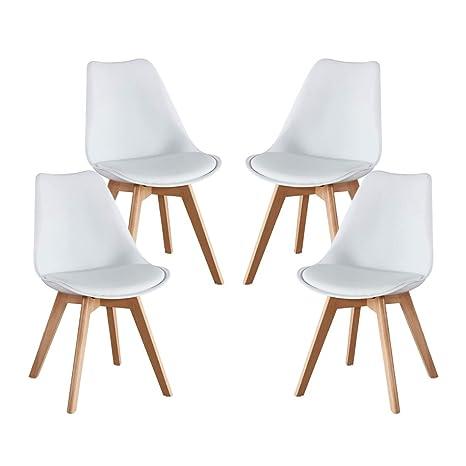 Alovhad - Juego de 2 sillas de Comedor con Patas de Madera ...