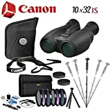 Cheap Canon 10×32 IS Image Stabilized Binocular Advanced Bundle