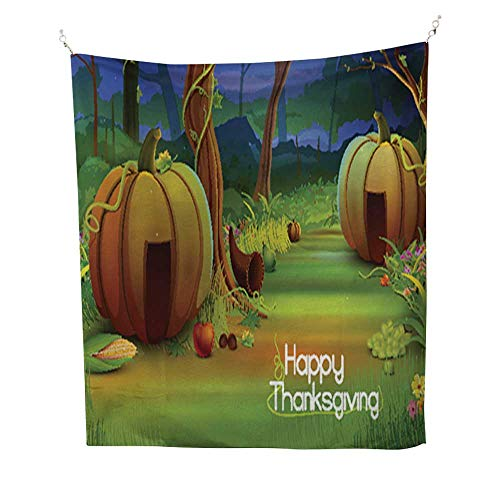 Auraisehome tapestrywall Tapestry for bedroomHappy Thanksgiving Wallpaper background2 40W x 60L INCH