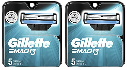 Gilltte Mach 3 Razor Refill Cartridges 10-Count (Packaging may vary)