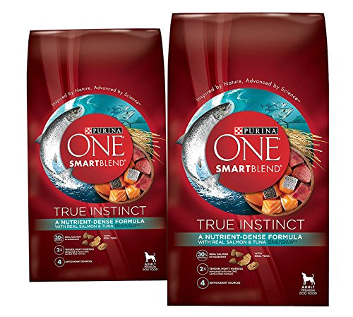 (2 Pack) Purina ONE Purina ONE Smartblend True Instinct Formula – Real Salmon & Tuna – 3.8 lb per bag