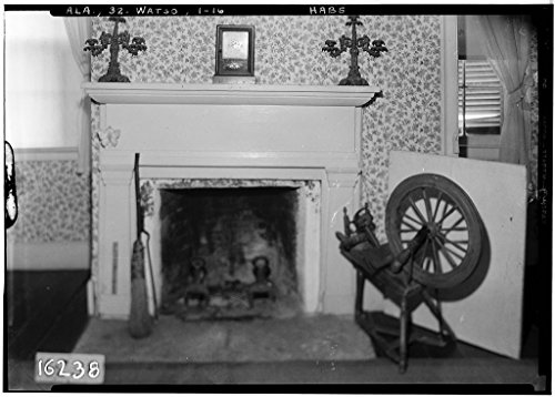 8 x 12 Photo 16. Historic American Buildings Survey Alex Bush, Photographer, December 30, 1934. Fireplace. 2D Floor Rear - N.E. Bedroom - Thornhill Plantation, County Road 19, Forkland, 1876 72a by Vintography