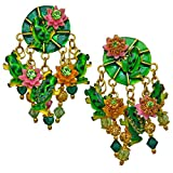 Lunch At The Ritz Frog Pond Lilly Pad Clip Earrings Rare Esme's Private Vault