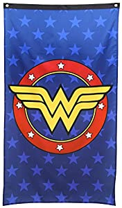 Wonder Woman- Logo Shield Banner Fabric Poster 30 x 50in