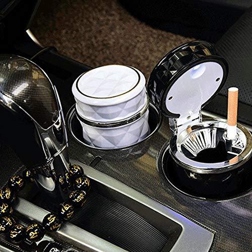 YMXLJJ Diamond Ashtray Portable Fashion Creative Ashtray High Temperature with LED Light Cigarette Smoke Office Home Car Travel Accessories,Black by YMXLJJ (Image #3)