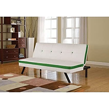 Strange Amazon Com Acme Furniture Penly Leather Sofa In White And Machost Co Dining Chair Design Ideas Machostcouk