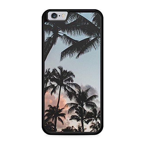 Palmen Landschaft Tropical - Hülle für iPhone 6 & 6s SILIKON Handyhülle Case Cover Schutzhülle - Schöne Sommer Urlaub Tropisch Meer Strand Hüllen