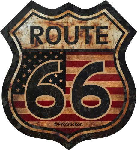 "ProSticker 825  5"" Route 66 Series Junk Yard Flag Decal Stic"