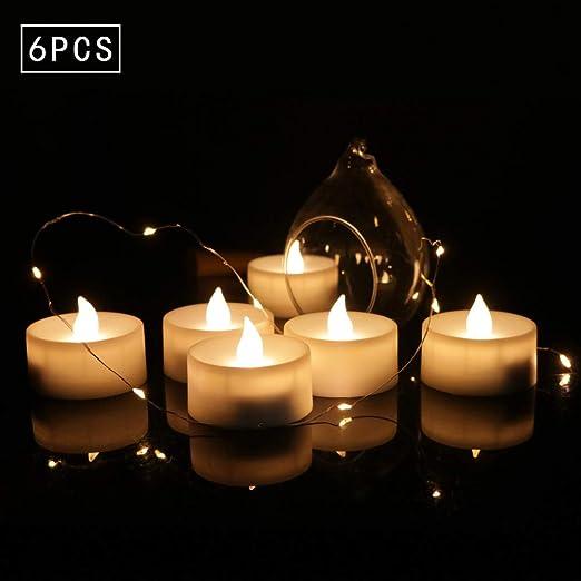 wangZJ Luz de vela electrónica/Decoración navideña/romántico ...