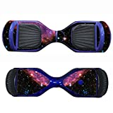 SKINOWN Self Balance Two Wheel Balance Board Hover Scooter Sticker Protective Skin Wrap Adhesive Vinyl Decal Cover - Starry Sky