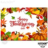 Thanksgiving Photo Backdrop for Thanksgiving Decorations - Happy Thanksgiving Day Poster Wall Decorations | 40 x 27 Inchs | Thanksgiving Backdrops for Photography, Pumpkin, Maple | Photo Booth Props: more info