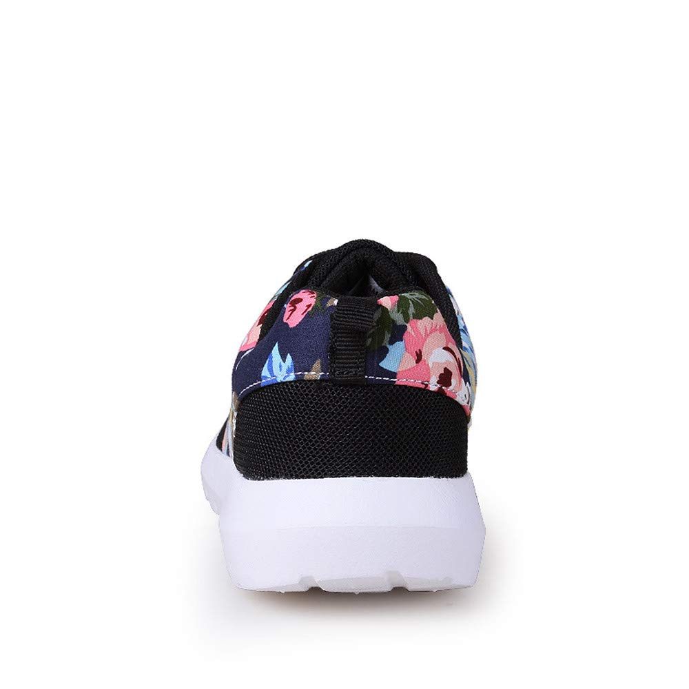 Suma-ma Women Running Sneakers Trainers Breathable Flower Printes Casual Shoes Mesh Low Top Jogger Shoes