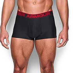 """Under Armour Men\'s Original Series 3"""" Boxerjock, Black/Red, Large"""