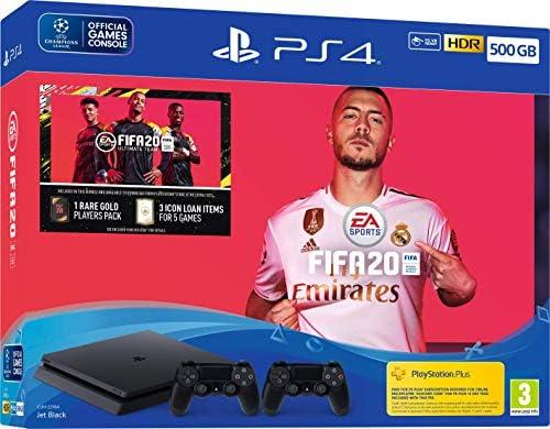Fifa 20 500GB PS4 Bundle with Second DualShock 4 Controller - PlayStation 4 [Importación inglesa]: Amazon.es: Videojuegos