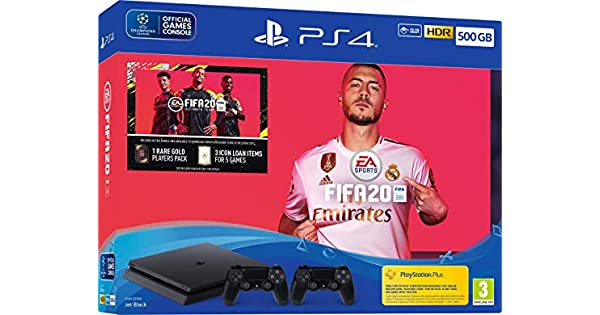 Fifa 20 500GB PS4 Bundle with Second DualShock 4 Controller - PlayStation 4 [Importación inglesa]: Amazon.es: Videojuegos