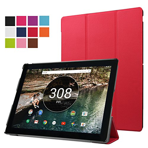 Price comparison product image Nexus Pixel C Case - WITCASE Google Nexus Pixel C Tablet Ultra-Slim and Ultra-light PU Leather Folio Case Stand Cover for Nexus Pixel C Tablet (Red)