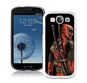Unique And Antiskid Designed Cover Case For Samsung Galaxy S3 I9300 With deadpool White Phone Case