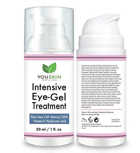 Crema De Ojos Para Ojeras, Bolsas Y Arrugas Con Ácido Hialurónico, Aceite De Jojoba Y Vitaminas (Hialuronico Crema Acido)