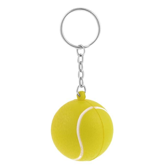 Llavero con cadena anillo amarillo 4cm Dia espuma elástica ...