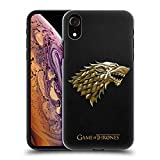 Official HBO Game of Thrones Gold Stark Embossed Sigils Hard Back Case for iPhone XR