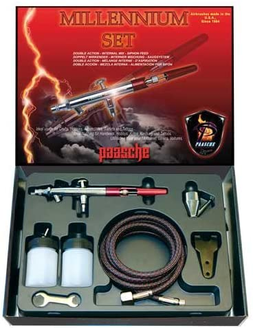 Double Action Internal Mix Siphon Feed Paasche VL-SET Airbrush Set