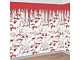 scary halloween decorating ideas AMSCAN Chop Shop Room Roll, Halloween Props and Decorations, 4' H  x 20' L