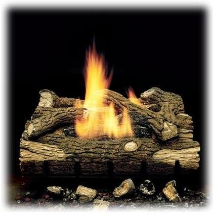 (Monessen Gas Logs 18 Inch Mountain Oak Vent Free Natural Gas Log Set With Manual Safety Pilot)