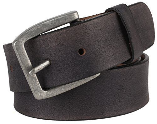 Men's 100% Cowhide One Piece Leather Belt,w/ Snaps for Interchangeable Buckles,black,size 32,# 9702