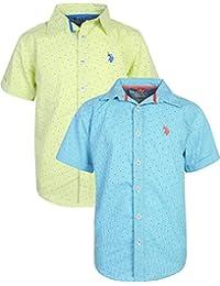 Boy's Short Sleeve Woven Shirt (2 Pack)