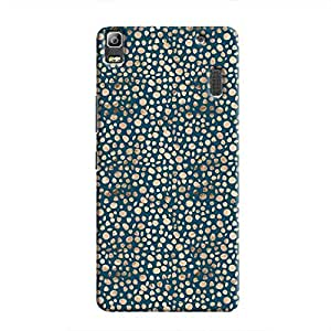 Cover It Up - Brown Navy Pebbles Mosaic A7000 / K3 Note Hard Case