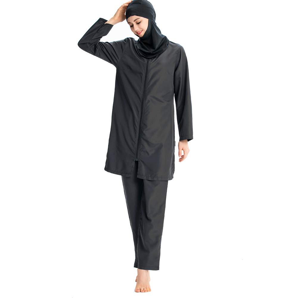 24f40eaf700 ziyimaoyi Muslim Swimwear for Women Girls Modest Islamic Bathing Suit Hijab  Swimsuits: Amazon.co.uk: Sports & Outdoors